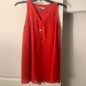 Forever 21 5-button red shift dress